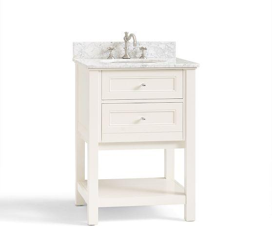 Barn Sink Dimensions : Mini Sink Console - White Pottery Barn - white two drawer sink ...