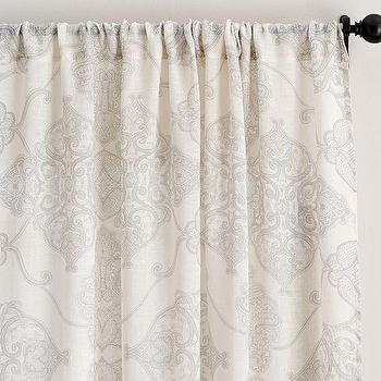 Alana Medallion Sheer Drape, Pottery Barn