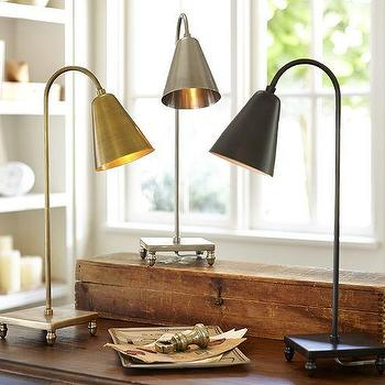 Lighting - Lily Task Table Lamp | Pottery Barn - brass task lamp, bronze task lamp, antique nickel task lamp,