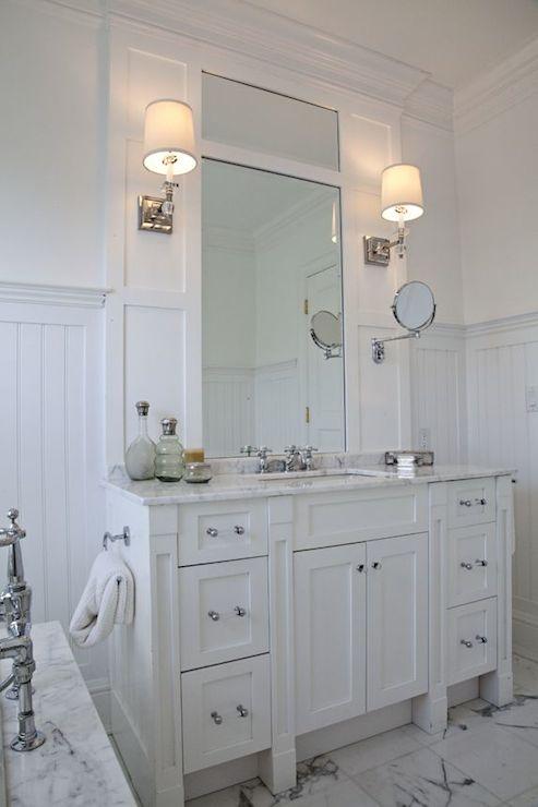 White Beadboard Bathroom Vanity White Beadboard Bathroom Cottage Bathroom Papyrus Home Design