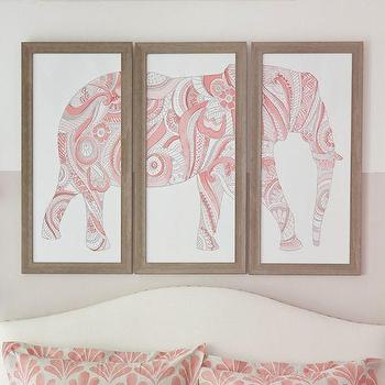 Elephant Art, Set Of 3, PBteen