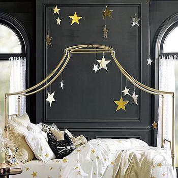 Art/Wall Decor - The Emily + Meritt Hanging Stars | PBteen - hanging ceiling stars, star ceiling decor, silver and gold star decor,