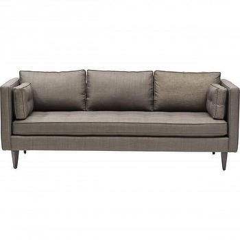 Seating - Lilla Sofa I High Fashion Home - taupe mid century sofa, modern taupe sofa, taupe sofa with bench cushion,