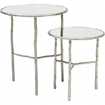 Tables - Bernhardt Carlisle Nesting Table Set I High Fashion Home - faux bois nesting tables, silver twig nesting tables, silver faux bois nesting tables,