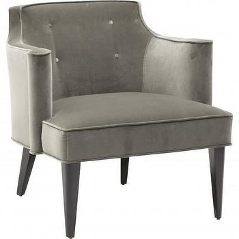 Colin Accent Chair, Gray I High Fashion Home