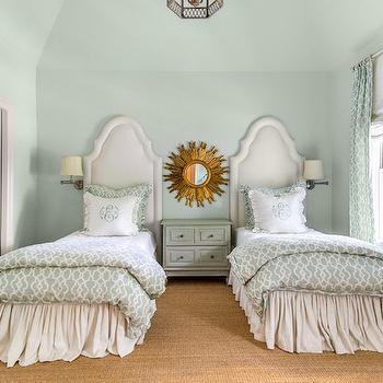 Mint Green Bedrooms, Transitional, girl's room, Talbot Cooley Interiors