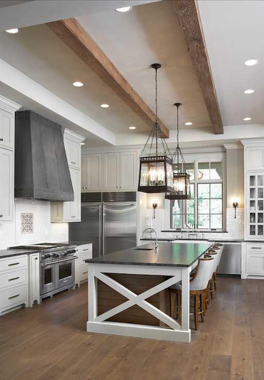 Mystic Gray Granite Countertops Transitional Kitchen