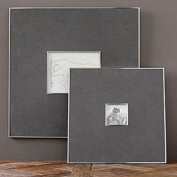 Art/Wall Decor - Gray Linen & Silver Frames | Pottery Barn - modern silver and gray frame, silver and gray photo frame, modern gray photo frame,