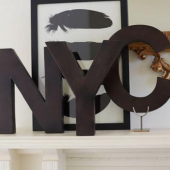 Art/Wall Decor - Metal Letters - Bronze | Pottery Barn - bronze wall letters, metal wall letters, decorative wall letters,