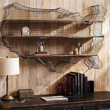 Art/Wall Decor - USA Metal Shelf | Pottery Barn - usa wall shelf, usa metal wall shelf, usa shaped wall shelf,