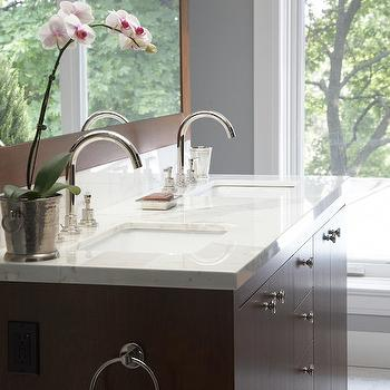 Veneer Double Vanity, Transitional, bathroom, Emily Griffin Design