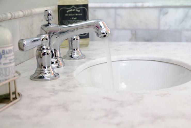 Aspen quartz countertop transitional bathroom curbly