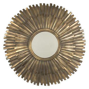 Mirrors - Salerno Mirror | Jayson Home - gilt sunburst mirror, hollywood regency sunburst mirror, antiqued gold sunburst mirror,