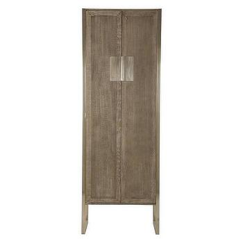Storage Furniture - Levon Cabinet | Jayson Home - cerused gray oak cabinet, contemporary gray oak cabinet, oak cabinet with steel base,