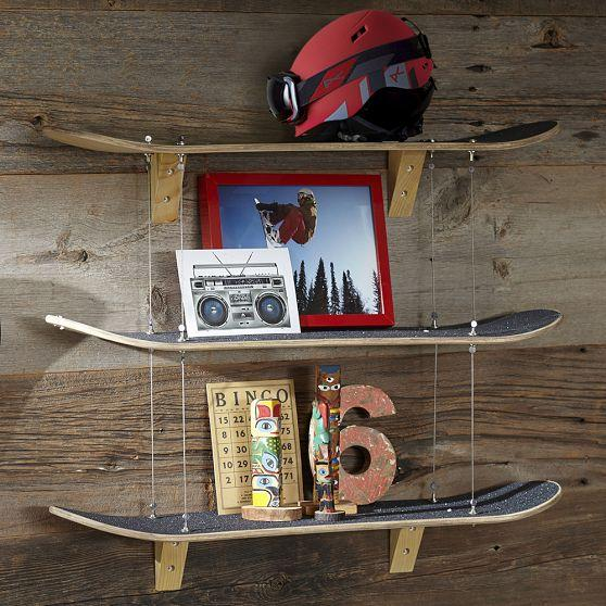 skateboard shelf pbteen. Black Bedroom Furniture Sets. Home Design Ideas