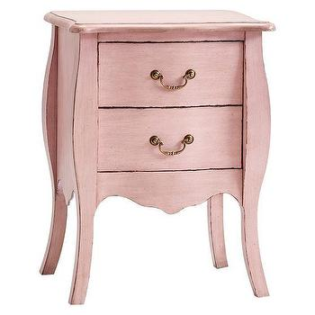 Tables - Sadie Bedside Table | PBteen - pink kids nightstand, pink two drawer nightstand, pink bedside table,