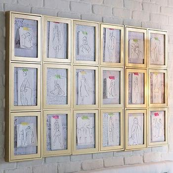 Art/Wall Decor - PhotoBox Frames, Gold | PBteen - gold photobox frames, gold pop open frames, gold interchangeable wall frames,