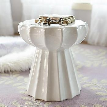 Tables - Clara Fluted Side Table | Pottery Barn Kids - white fluted side table, white pedestal side table, white fluted garden stool,