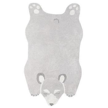 Rugs - Bear Shaped Rug | Pottery Barn Kids - bear shaped rug, bear kids rug, gray bear rug,