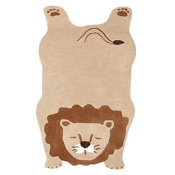 Rugs - Lion Shaped Rug | Pottery Barn Kids - lion shaped rug, lion rug, kids lion rug,