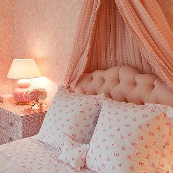 Pink Nightstand, Transitional, girl's room, Kirsten Kelli
