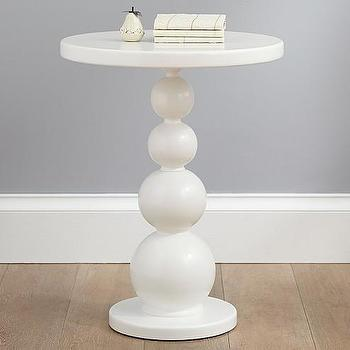 Tables - Bubble Side Table | Pottery Barn Kids - white bubble side table, stacked sphere side table, modern white accent table,