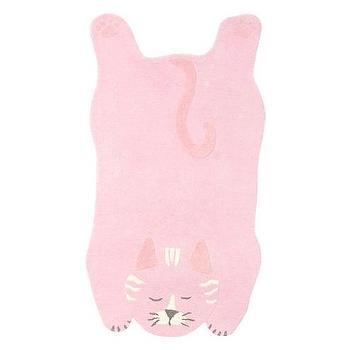 Rugs - Cat Shaped Rug | Pottery Barn Kids - cat shaped rug, pink cat rug, pink cat shaped rug,