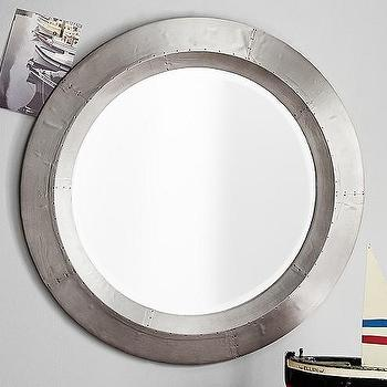 Mirrors - Aluminum Mirror | Pottery Barn Kids - aluminum wall mirror, round airplane window mirror, round aviator mirror, aviation wall mirror, round aluminum mirror,