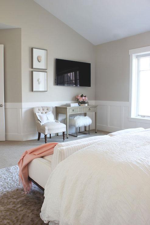 bedroom wainscoting transitional bedroom alice lane home