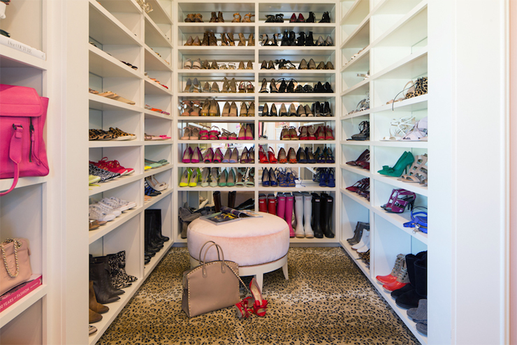 Shoe Closets Transitional Closet Pink Peonies