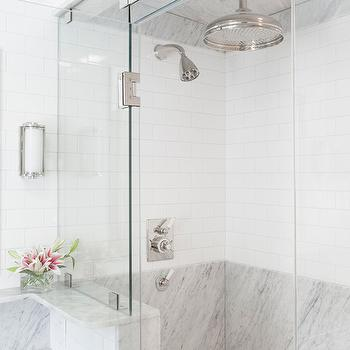 Mixed Shower Tiles, Transitional, bathroom, Reiko Feng Shui Design