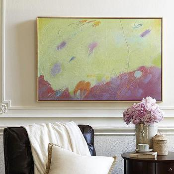 Art/Wall Decor - Up With The Light Giclee Canvas | Pottery Barn - pink and yellow abstract art, pink and yellow giclee canvas, pink and yellow abstract canvas,