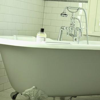 Grey Clawfoot Tub, Transitional, bathroom, Belmont Design Group