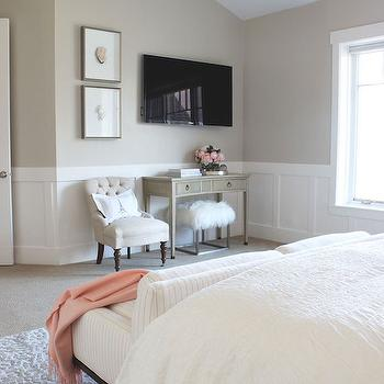 Bedroom Wainscoting, Transitional, bedroom, Alice Lane Home