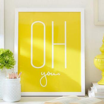 Art/Wall Decor - Stephanie Sterjovski Framed Print: Oh, You | Pottery Barn - oh you wall art, oh you wall decor, yellow oh you art print,