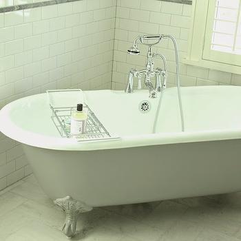 Grey Claw Foot Tub, Transitional, bathroom, Belmont Design Group