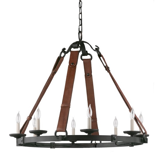 Williams Sonoma Equestrian Leather Tack Chandelier Look 4 Less