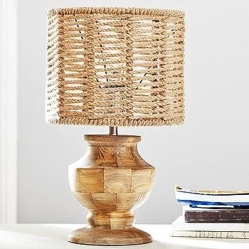 Lighting - Caleb Rope Shade | Pottery Barn Kids - rope lamp shade, woven rope lamp shade, natural rope lamp shade,