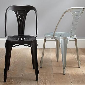 Seating - Metal Desk Chair | Pottery Barn Kids - tolix style kids chair, black metal kids chair, silver tolix kids chair, black tolix kids chair,
