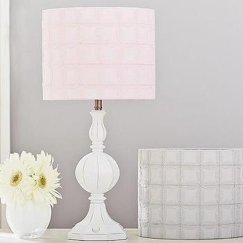 Lighting - Graphic Applique Drum Shade | Pottery Barn Kids - pink applique drum shade, baby pink drum shade, pink geometric drum shade,