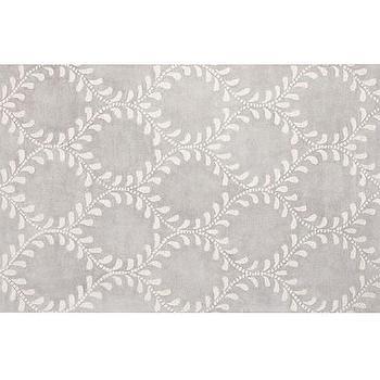 Rugs - Evelyn Vine Rug - Gray | Pottery Barn Kids - gray vine print rug, gray vine pattern rug, gray trellis print rug,