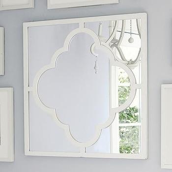 Mirrors - White Moroccan Tile Mirror | Pottery Barn Kids - white moroccan tile mirror, moroccan tile mirror, white moroccan mirror, square moroccan tile mirror,
