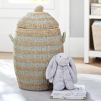 Round Abaca Basket, Pottery Barn Kids