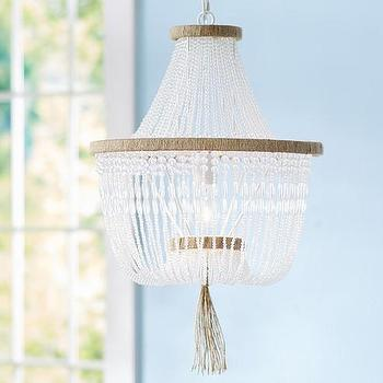 Lighting - Rissa Crystal Beaded Chandelier | Pottery Barn Kids - crystal beaded chandelier, clear beaded chandelier, beaded kids chandelier,