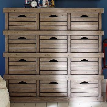 Storage Furniture - Crate Storage | Pottery Barn Kids - reclaimed pine kids dresser, crate style storage, pine crate drawer storage, reclaimed pine drawer storage,