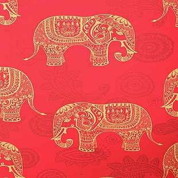 Wallpaper - Walls Need Love Elephant Removable Wallpaper I Urban Outfitters - red and gold elephant wallpaper, removable elephant print wallpaper, indian elephant print wallpaper, removable wallpaper,