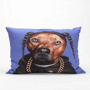 Pillows - Hip-Hop Pillow I Urban Outfitters - modern dog print pillow, modern dog portrait, hip hop dog pillow,