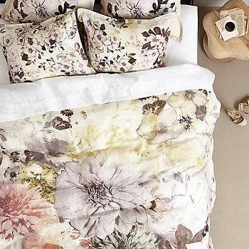 Bedding - Meadow Dusk Duvet I anthropologie.com - pastel floral duvet, watercolor floral duvet color, pastel colored floral duvet cover,