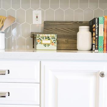 Gray Kitchen Backsplash, Transitional, kitchen, Studio McGee