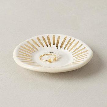 Gilded Ripple Trinket Dish I anthropologie.com